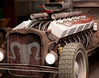 CGI / 3D - Hotrod monster machine