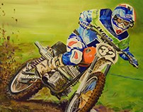 Trevor Calderwood Oil on canvas commission