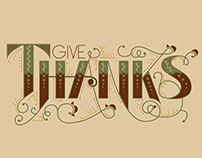 Give Thanks Handlettering