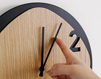 Clock25 - wooden wall clock