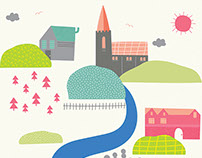 Music At Malling Map Style Illustration