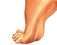 Foot Illustration, Package design commission, 2015
