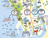 Illustration Map of Numazu City