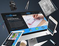 Tranquil Blue Fullwidth Responsive Website Design