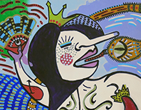 Lady Madonna Sambing con la Cobra