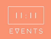 11:11 Events Logo Redesign + Rebrand