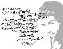 #CarelessWhispers #Wham! #GeorgeMichael #calligraphy