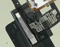 Exploded View of a Flip Phone