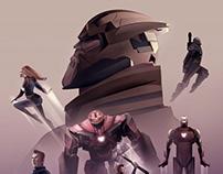 Avengers Endgame Illustration