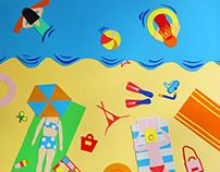 Beach Papercut