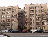 An apartment building in the Bronx's grand concourse