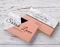 Marble Pink business card