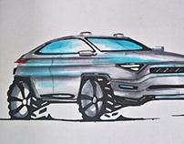 cars sketching