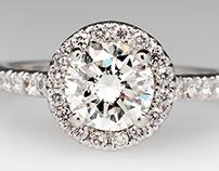 1 Carat Diamond Halo Ring