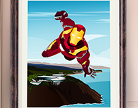 Iron Man Travel Poster Series (LA)