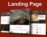 Baladna Restaurant - Landing Page