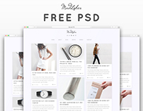 MIDLOKER - FREE Grid Style Personal Blog Psd Template