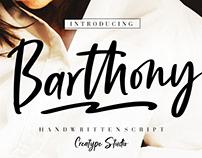 BARTHONY HANDWRITTEN SCRIPT - FREE FONT