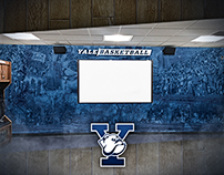 Yale™ University Basketball Locker Rooms Wall Art