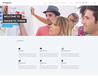 Magnetic WordPress theme Example for creative agency