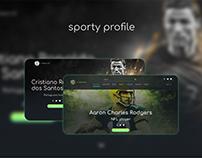 sparty Profile - Web design