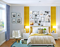 Yellow eclectic 2-rooms flat