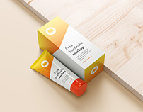 Free tube and box mockup
