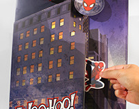 Clintons Disney Marvel Sliding Spiderman gift bag