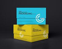 Free Square Boxes Mockup