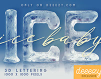Ice Ice Baby FREE 3D Lettering