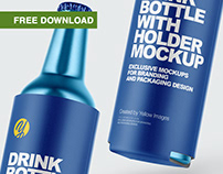 Free PSD-mockups | Metallic Drink Bottles