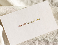 This will be a good year —Greeting card