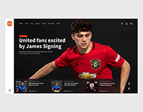 Manchester United - Website Concept
