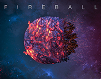 Galaxy Fireball - Cinema 4D