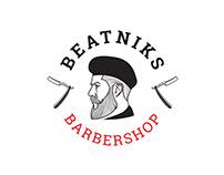 "Logo design for the barbershop ""Beatniks"""
