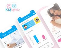 Kidiatric Mobile App UI Design