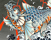 Dragon fish Digi-UKIYOE