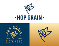 Hop Grain Clothing Co Branding 🍺