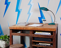 Lightning Wall for Kids Room in Crown Heights