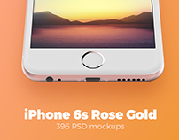 iPhone 6s Rose Gold mockups + Freebie