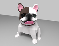 Low Poly Frenchie