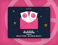 Dribbble Invites Giveaway by Immense Art