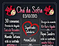 Convite Chá de Bebê - Modelo Chalkboard