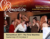 Romanticon convention web design (2011)