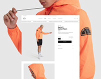 Ellesse e-commerce design