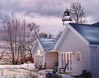 Seaside house Winter
