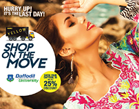YELLOW SHOP ON THE MOVE Facebook Campaign