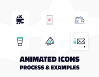 Interactive Icon design & animation