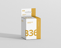 Box Mockup - Short Rectangle Size with Hanger