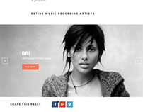 Estine Music - Website Design